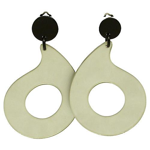 Schiffer Silver & Black Runway Earrings