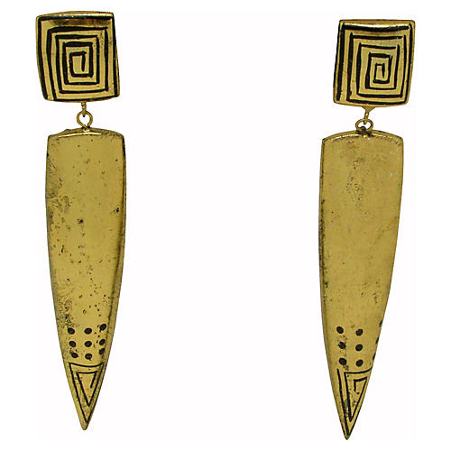 Laurel Burch Geometric Runway Earrings