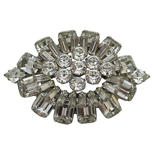 Weiss Layered Multi Shape Rhinestone Pin