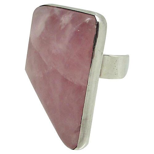 Sterling & Pink Quartz Ring
