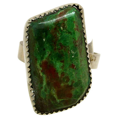 Sterling & Green Turquoise Ring