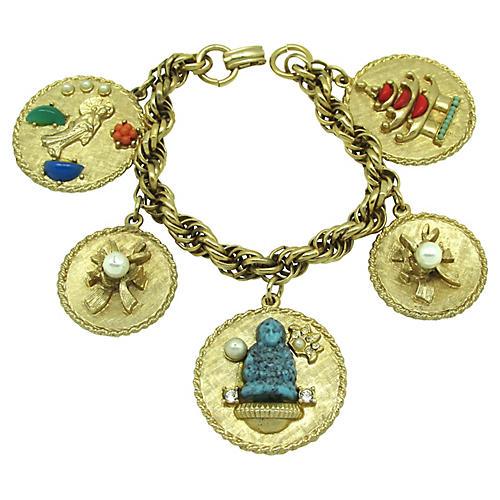 1950s Asian-Style Charm Bracelet