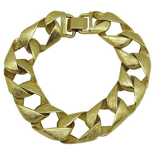 KJL Textured Ribbon Link Bracelet
