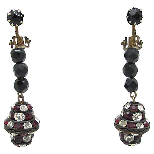 1950s Art Deco-Style Pendulum Earrings