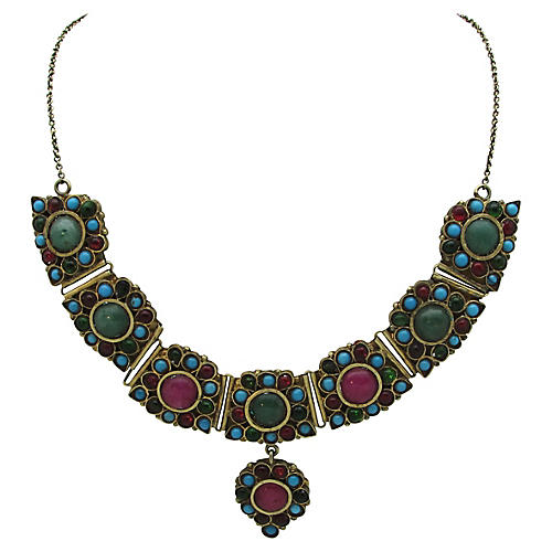 1960s East Indian Gemstone Necklace