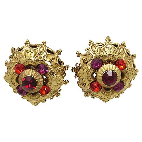 La Contessa Regal Layered Earrings