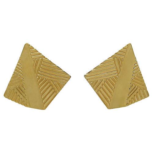 Monet Embossed Geometric Earrings