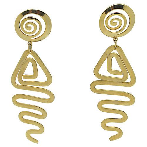 Modernist Abstract Earrings