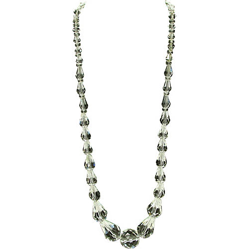 Teardrop Faceted Glass Bead Necklace