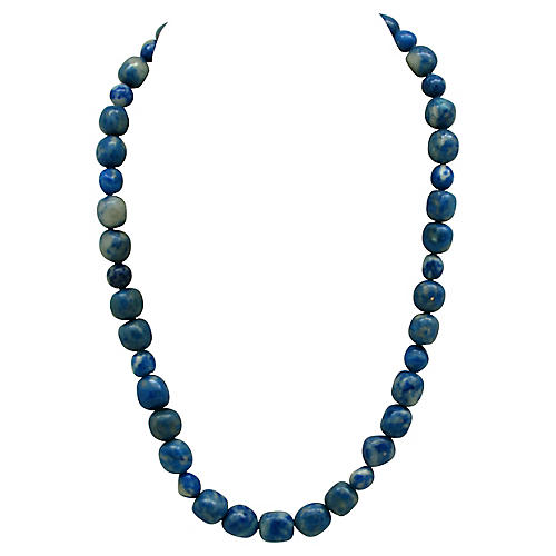 Blue Lapis Bead Necklace