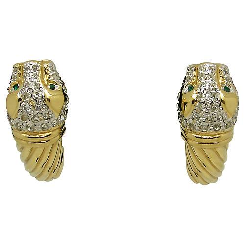 Vogue Bijou Leopard Earrings