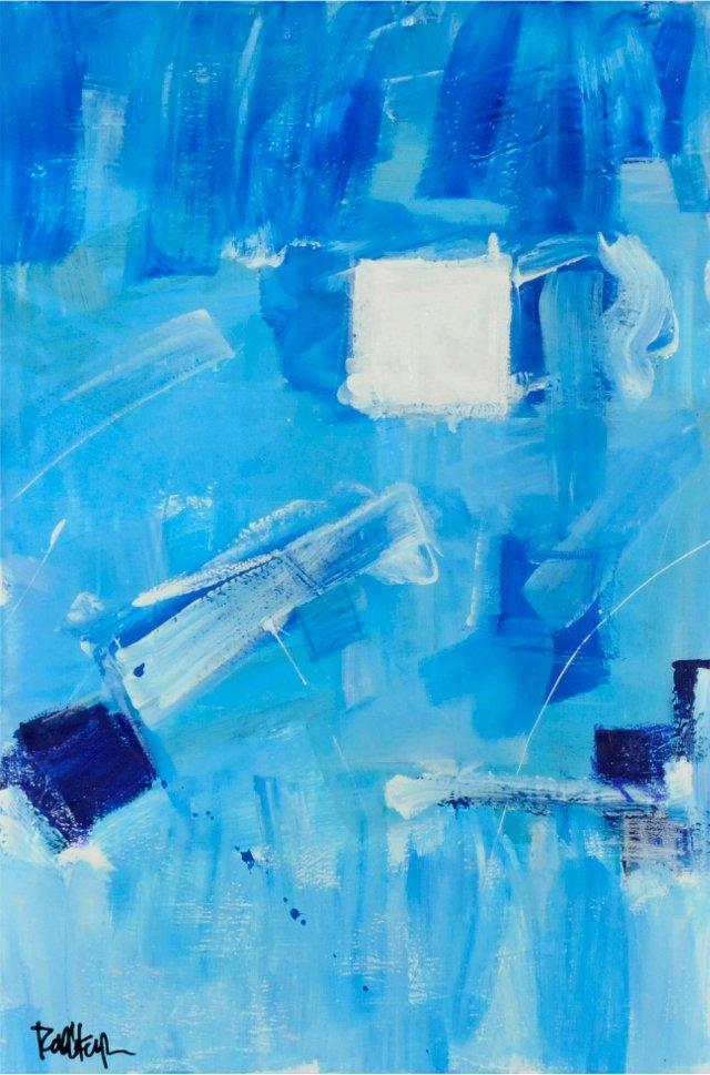 Blue & White Squares by Robbie Kemper