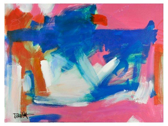 Pink Frame Blue by Robbie Kemper