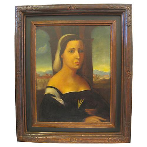 Antique Portrait of Noble Lady