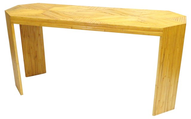 1960s Bamboo Console