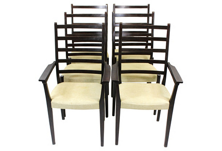 Svegards Rosewood Dining Chairs, S/10