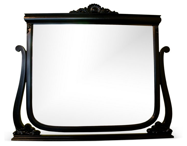 Black Painted Art Deco Wall Mirror