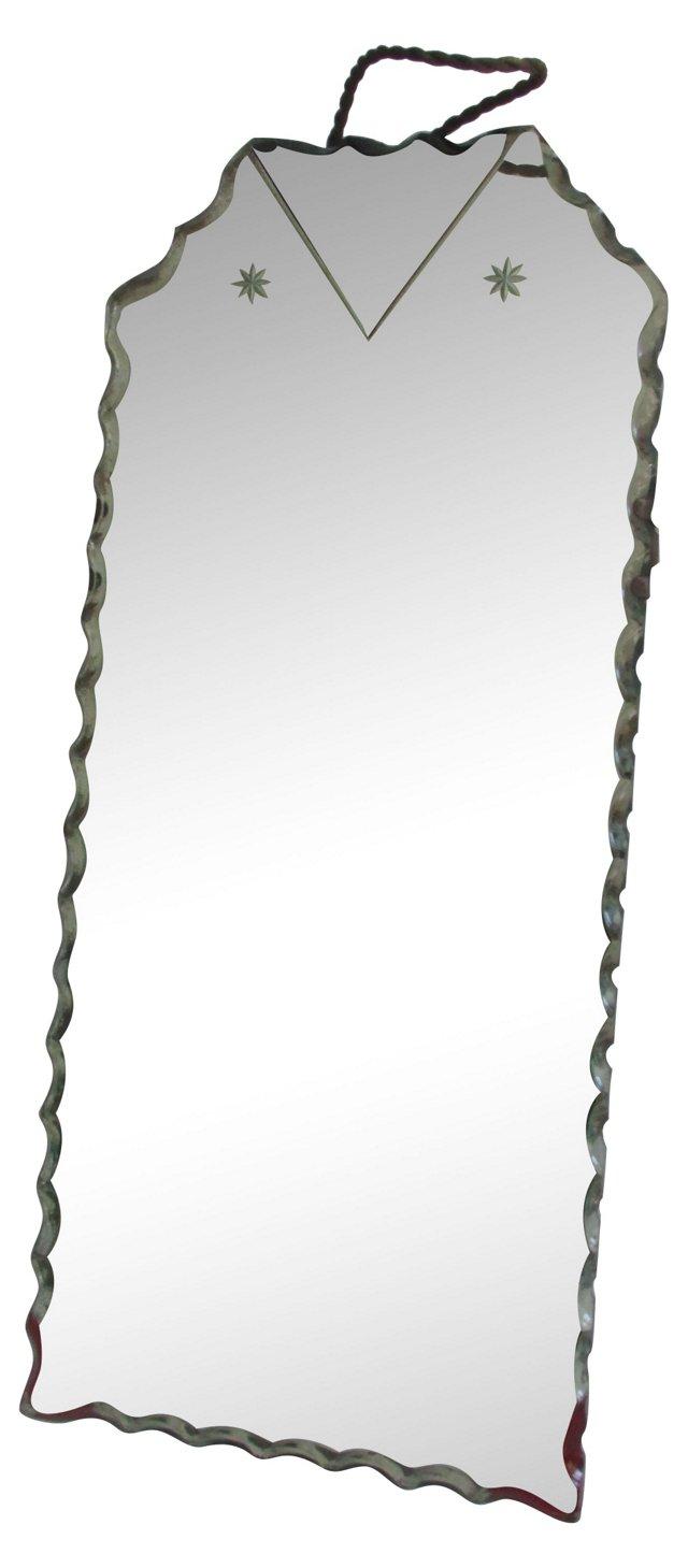Antique Scalloped Shaving Mirror