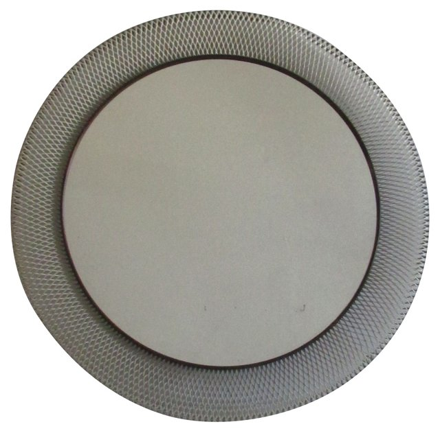 Painted Woven Metal Mirror