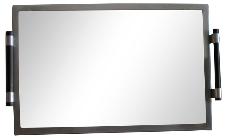 Jacques Adnet Art Deco Mirrored Tray