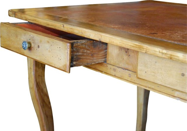 French    Leather-Top Writing Table