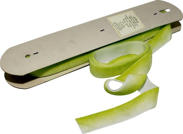 Lime Velvet Ribbon, 10 Yds