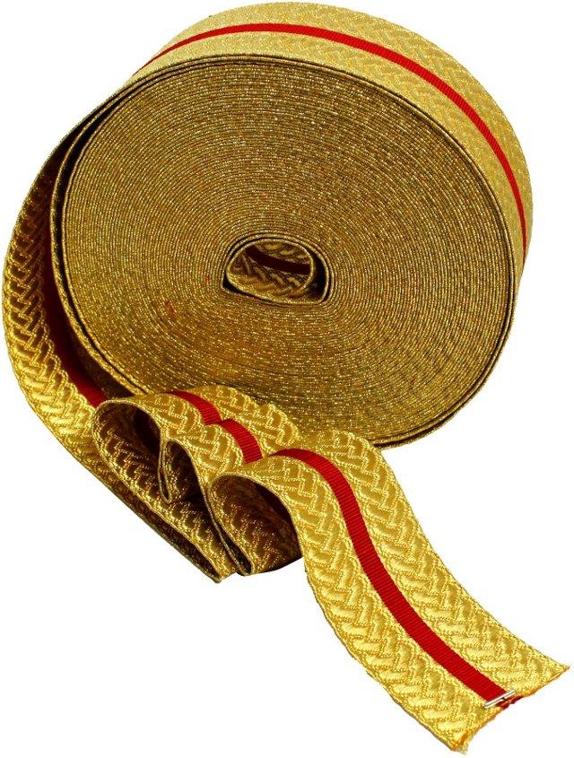 Gold Trim w/ Red Stripe, 6 Ft