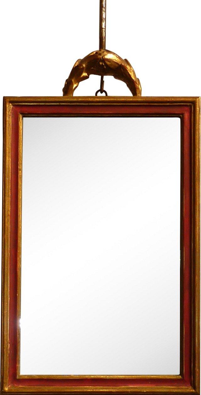 Accent Mirror w/ Crest