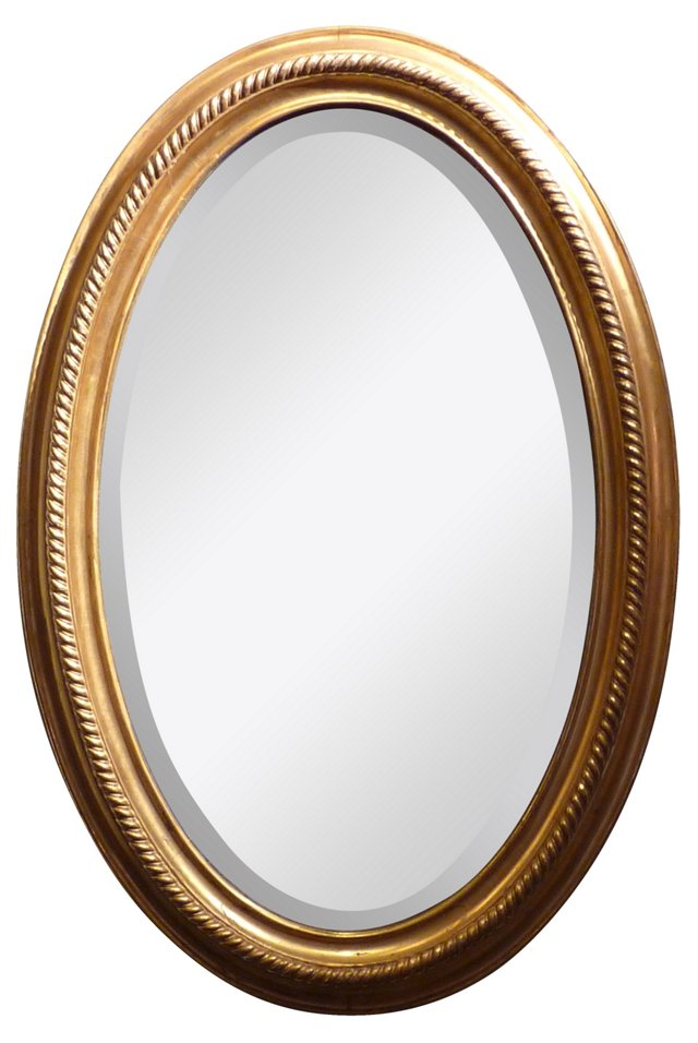 Antique Boston Gilt Mirror