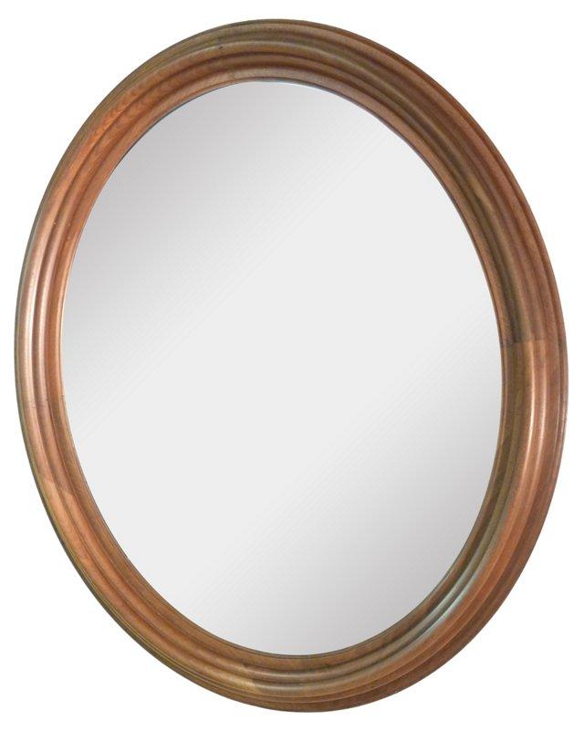 Walnut Oval Mirror