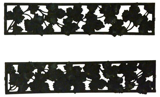 Iron Leaf Panels, Pair