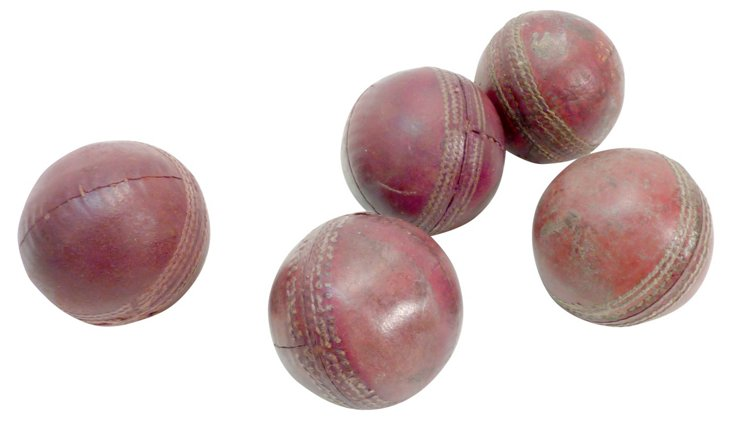 Red Leather Cricket Balls, S/5