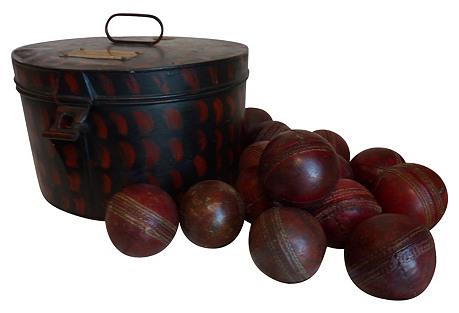 Tin w/ Cricket Balls, 15 Pcs