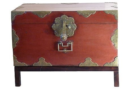 Japanese Lacquer Box on Stand