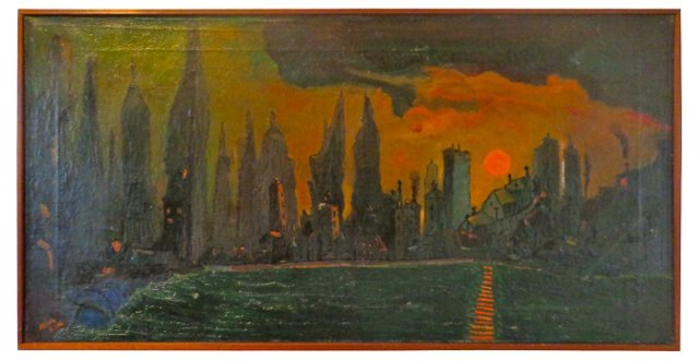 New York City at Dawn, C.1980