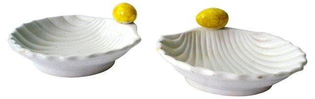 Italian Lemon Bowls, Pair