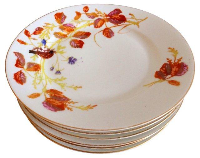 19th-C. Limoges Salad Plates, Set of 6