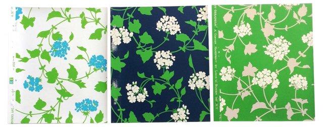 1970s Wallpaper Samples, Set of 3