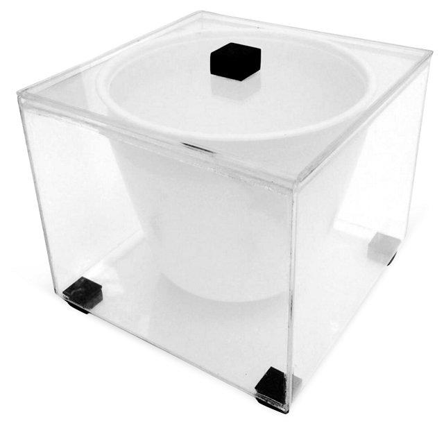 Modernist Lucite Ice Bucket
