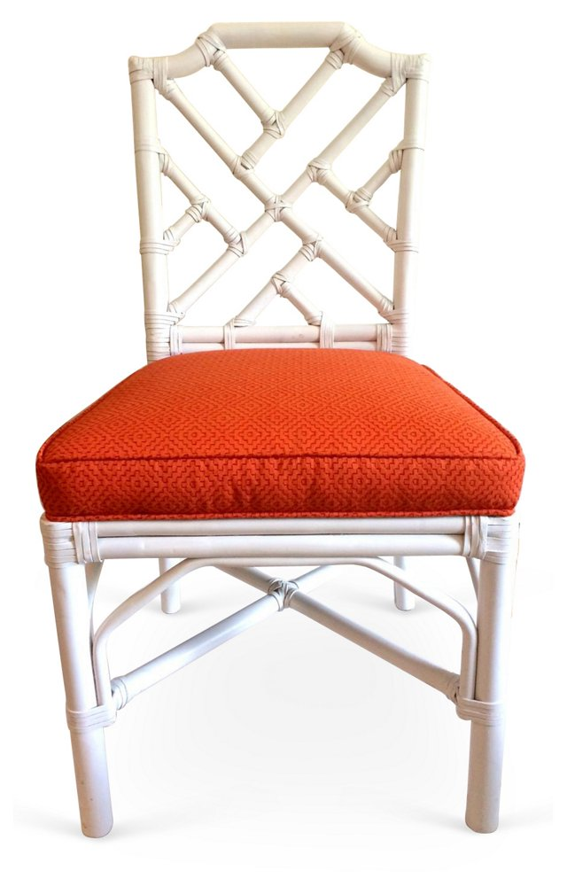 Fretwork   Chair w/ Thibaut Fabric