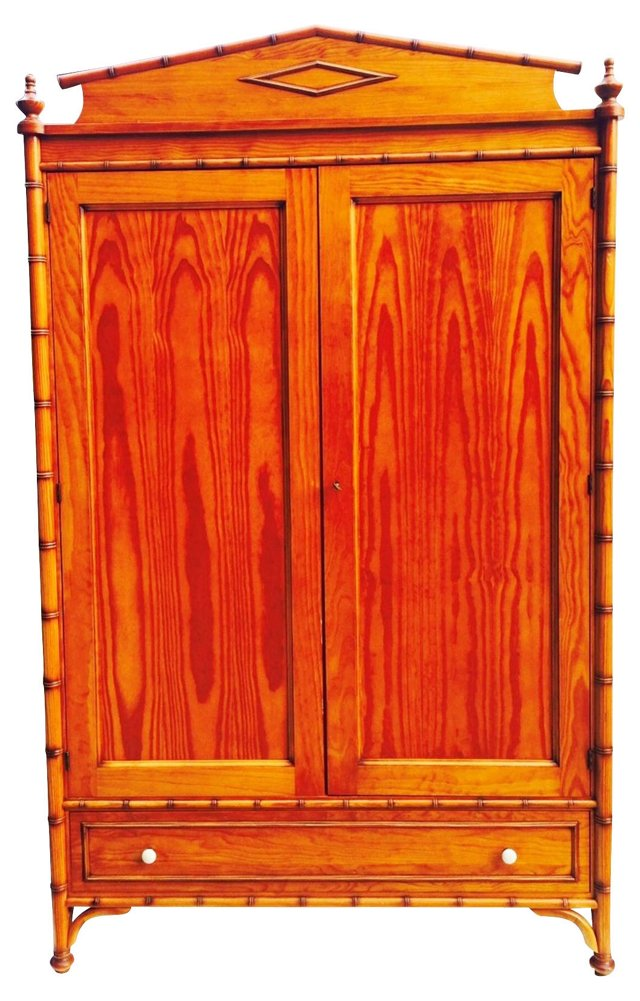 Faux-Bamboo French Armoire