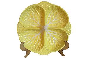 Cabbage Leaf Divided Serving Bowl*