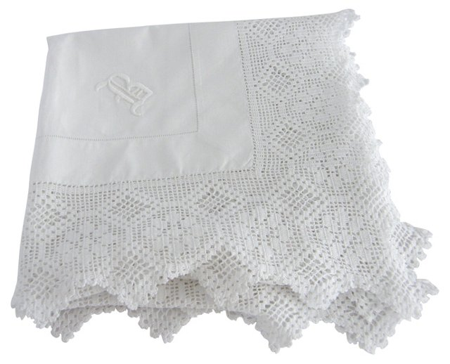 Wide Crochet Lace Tablecloth