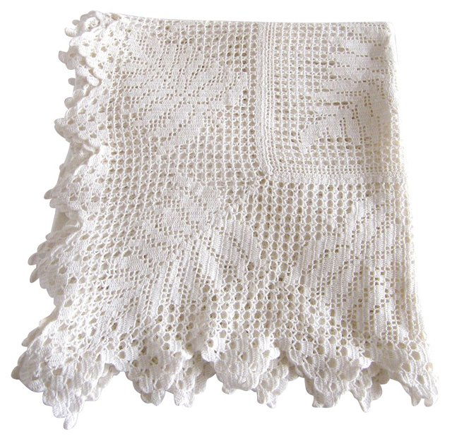 Fern Pattern Crochet Tablecloth