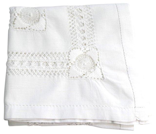 Tablecloth w/ Drawn Thread