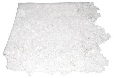 Butterfly Design Crochet Tablecloth