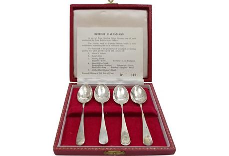 Royal Jubilee Sterling Coffee Spoons