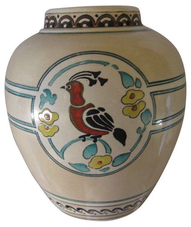 Circa 1910 Arts & Crafts Porcelain Vase