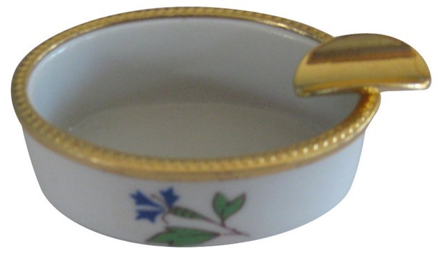 Limoges Porcelain & Ormolu Ashtray