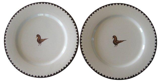Deruta Italian Faience  Dinner Plates